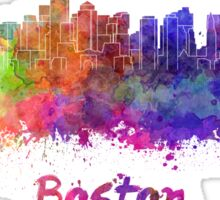 Boston skyline in watercolor Sticker