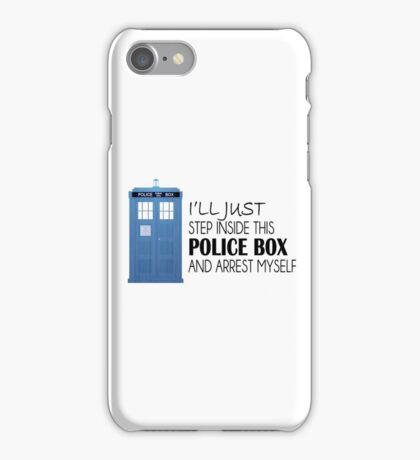 POLICE BOX - tardis iPhone Case/Skin