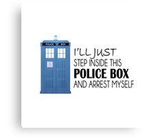 POLICE BOX - tardis Canvas Print