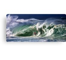 The Art Of Surfing In Hawaii Canvas Print