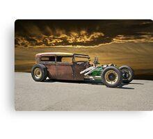 Rat Rod Sedan ll Canvas Print