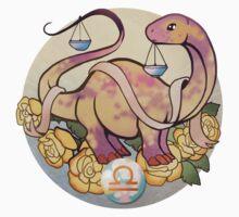 Libra Dinosaur Zodiac Kids Tee