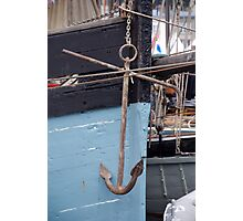 Anchor on the side of the former Cornish fishing boat Snowdrop, Brest 2008 Maritime Festival, France Photographic Print