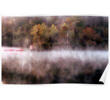 Fog At The Kayak Shack Poster