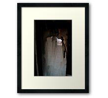 Jacket Silhouette Framed Print