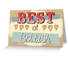 Best of British Greeting Card