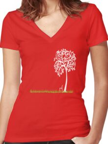 Tree of life t Women's Fitted V-Neck T-Shirt