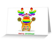 prancer: busts a move Greeting Card