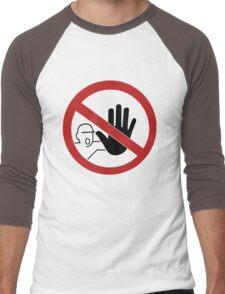 STOP - Hand Signal Men's Baseball ¾ T-Shirt