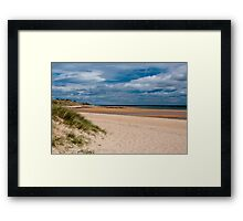 Dunstanburgh Beach, Northumberland, England Framed Print