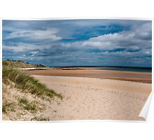 Dunstanburgh Beach, Northumberland, England Poster