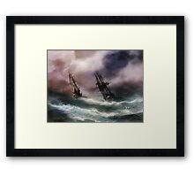 Open Sea - Dangerous Drift Framed Print