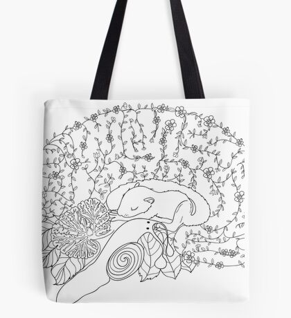 Enchanted forest brain Tote Bag