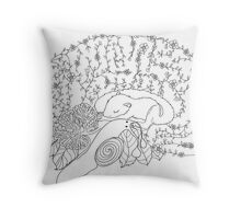 Enchanted forest brain Throw Pillow