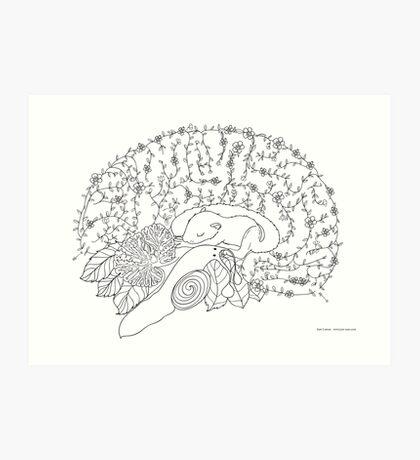 Enchanted forest brain Art Print