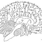 Enchanted forest brain by Sam Loman