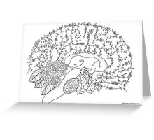 Enchanted forest brain Greeting Card