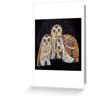 Three Owls - Art Nouveau Inspired by Klimt Greeting Card