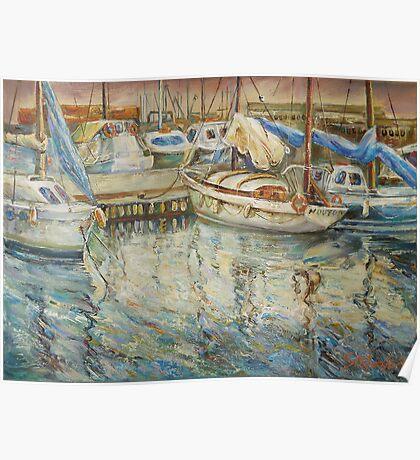 Castellon, Boats at Dusk Poster
