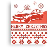 Merry Christmas evo - red Canvas Print