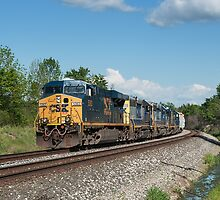 CSX Mixed Freight Train by StonePhotos