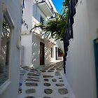 Streets of Mykonos. by JMDasso