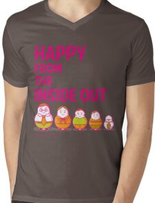 Happy from the inside out Mens V-Neck T-Shirt