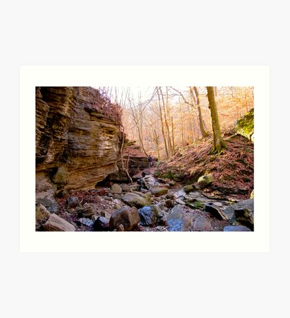 Hiking in the Ozarks Art Print