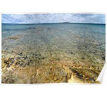 Limestone at Yamacraw Beach in Nassau, The Bahamas Poster