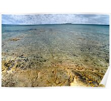 Limestone at Yamacraw Beach in Nassau, The Bahamas Poster