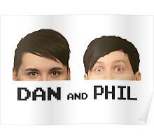 dan and phil half faces (dan and phil) Poster
