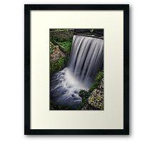SILK FALLS Framed Print