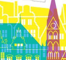Bremen skyline pop Sticker