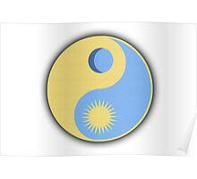 Yin Yang Sun And Moon Poster
