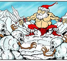 Santa V. The Savage Snowmen by ZugArt