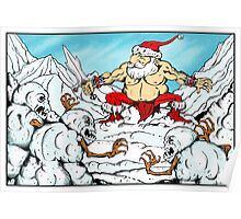 Santa V. The Savage Snowmen Poster