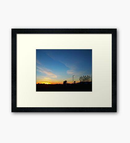 Dakota Dusk Framed Print