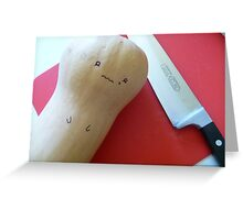 A Worried Butternut Squash Greeting Card