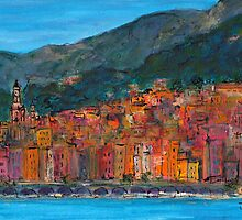 Vieux Menton, France by JackieSherwood