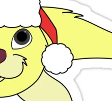 Light Yellow Baby Seal with Christmas Red Santa Hat Sticker