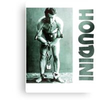 Harry Houdini in Chains Canvas Print