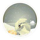 Swan and Cygnet by Jenny Lloyd