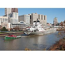 Tugboat & Freighter Photographic Print
