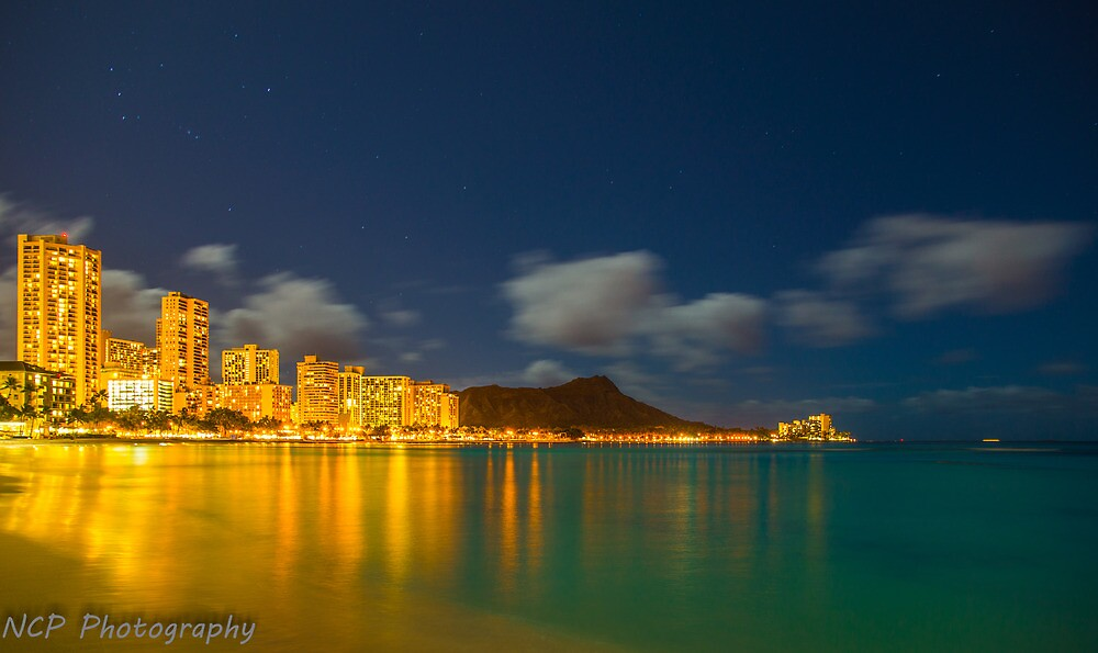 Waikiki at night by chrisfb1