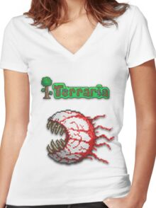 Terraria Eye Of Cthulhu Women's Fitted V-Neck T-Shirt