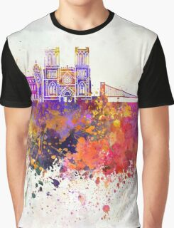 Bristol skyline in watercolor background Graphic T-Shirt