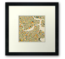 BOSTON MAP Framed Print