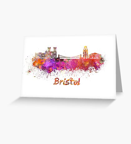 Bristol skyline in watercolor Greeting Card