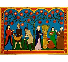 Medieval Harvest Photographic Print