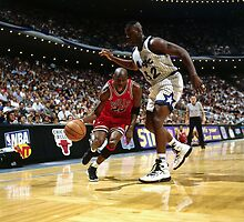 Michael Jordan VS Shaquille O'Neal, NBA  by fine-art-prints